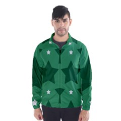Green White Star Wind Breaker (Men)