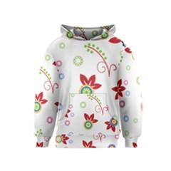 Floral Flower Rose Star Kids  Pullover Hoodie
