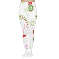Floral Flower Rose Star Women s Tights