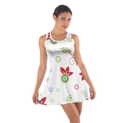 Floral Flower Rose Star Cotton Racerback Dress