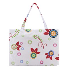 Floral Flower Rose Star Medium Tote Bag