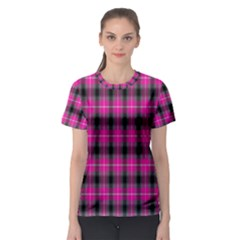 Cell Background Pink Surface Women s Sport Mesh Tee
