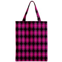 Cell Background Pink Surface Zipper Classic Tote Bag
