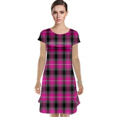Cell Background Pink Surface Cap Sleeve Nightdress