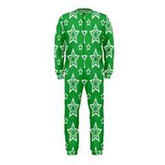 Green White Star Line Space OnePiece Jumpsuit (Kids)