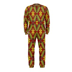 Abstract Yellow Red Frame Flower Floral OnePiece Jumpsuit (Kids)