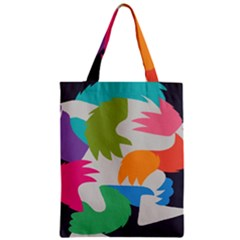 Hand Rainbow Blue Green Pink Purple Orange Monster Zipper Classic Tote Bag