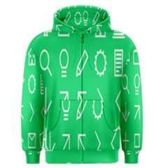 Icon Sign Green White Men s Zipper Hoodie