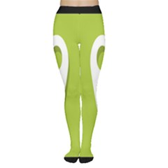 Location Icon Graphic Green White Black Women s Tights