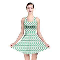 Crown King Triangle Plaid Wave Green White Reversible Skater Dress