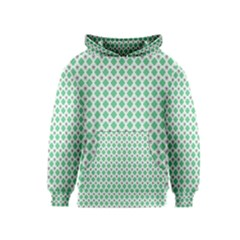 Crown King Triangle Plaid Wave Green White Kids  Pullover Hoodie