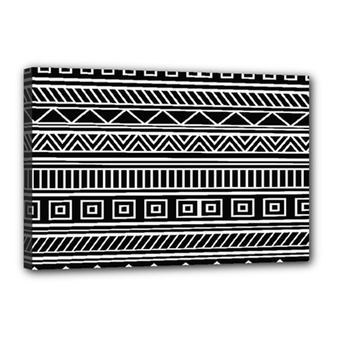 Myria Wrapping Paper Black Canvas 18  x 12