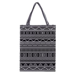 Myria Wrapping Paper Black Classic Tote Bag