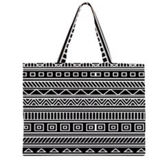 Myria Wrapping Paper Black Large Tote Bag