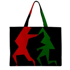 Ninja Graphics Red Green Black Zipper Mini Tote Bag