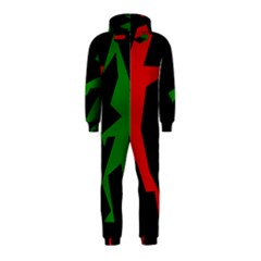Ninja Graphics Red Green Black Hooded Jumpsuit (Kids)
