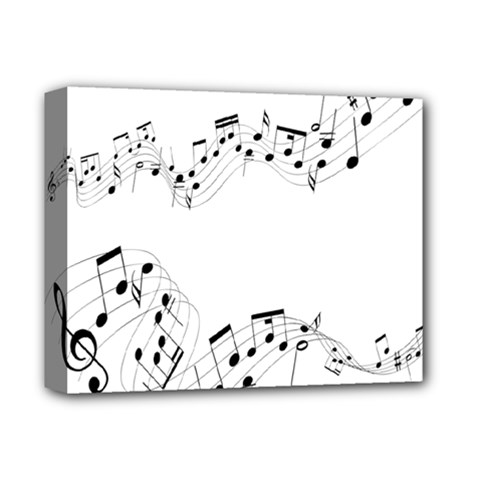 Music Note Song Black White Deluxe Canvas 14  x 11