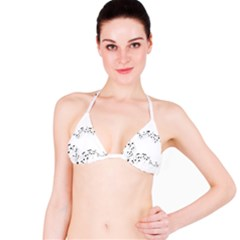 Music Note Song Black White Bikini Top