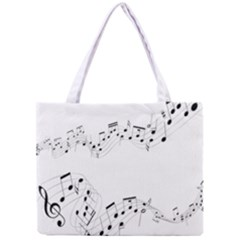 Music Note Song Black White Mini Tote Bag