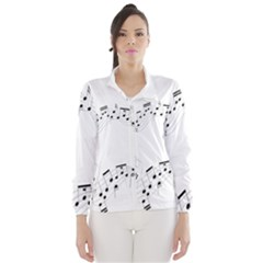 Music Note Song Black White Wind Breaker (Women)