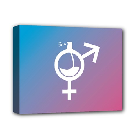 Perfume Graphic Man Women Purple Pink Sign Spray Deluxe Canvas 14  x 11