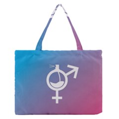 Perfume Graphic Man Women Purple Pink Sign Spray Medium Zipper Tote Bag