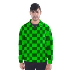 Plaid Flag Green Wind Breaker (Men)