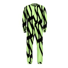 Polygon Abstract Shape Black Green Onepiece Jumpsuit (kids)