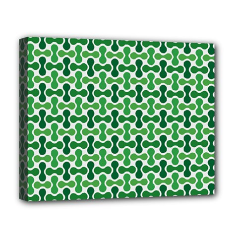 Green White Wave Deluxe Canvas 20  X 16