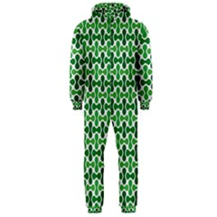 Green White Wave Hooded Jumpsuit (Men)