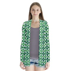 Green White Wave Cardigans