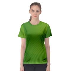 Green Wave Waves Line Women s Sport Mesh Tee