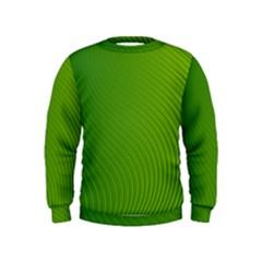 Green Wave Waves Line Kids  Sweatshirt