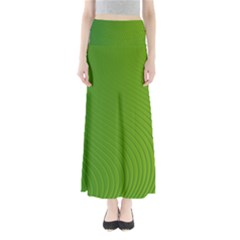 Green Wave Waves Line Maxi Skirts