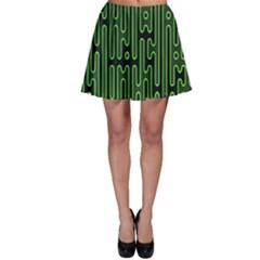 Pipes Green Light Circle Skater Skirt