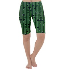 Pipes Green Light Circle Cropped Leggings