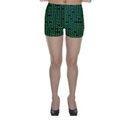 Pipes Green Light Circle Skinny Shorts