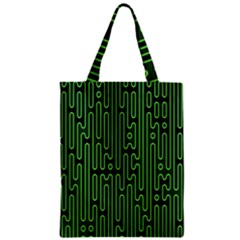 Pipes Green Light Circle Zipper Classic Tote Bag