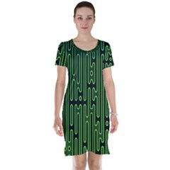Pipes Green Light Circle Short Sleeve Nightdress