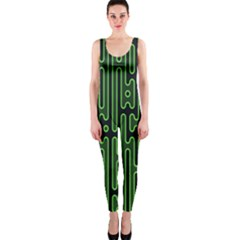Pipes Green Light Circle OnePiece Catsuit