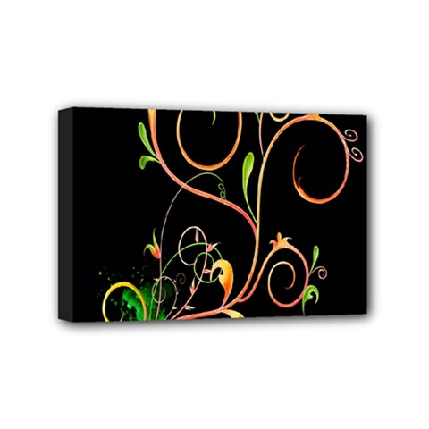 Flowers Neon Color Mini Canvas 6  X 4