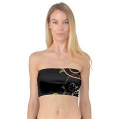 Flowers Neon Color Bandeau Top