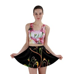 Flowers Neon Color Mini Skirt