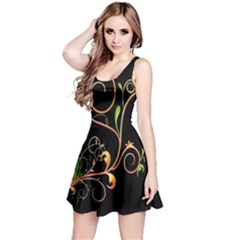 Flowers Neon Color Reversible Sleeveless Dress