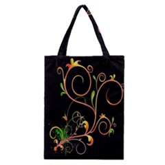 Flowers Neon Color Classic Tote Bag