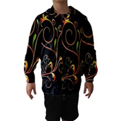 Flowers Neon Color Hooded Wind Breaker (Kids)