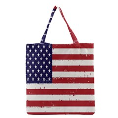 Flag United States United States Of America Stripes Red White Grocery Tote Bag
