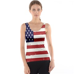Flag United States United States Of America Stripes Red White Tank Top