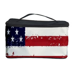 Flag United States United States Of America Stripes Red White Cosmetic Storage Case