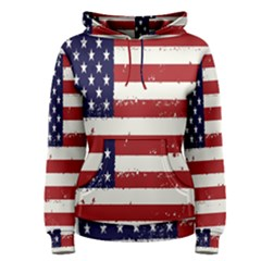 Flag United States United States Of America Stripes Red White Women s Pullover Hoodie